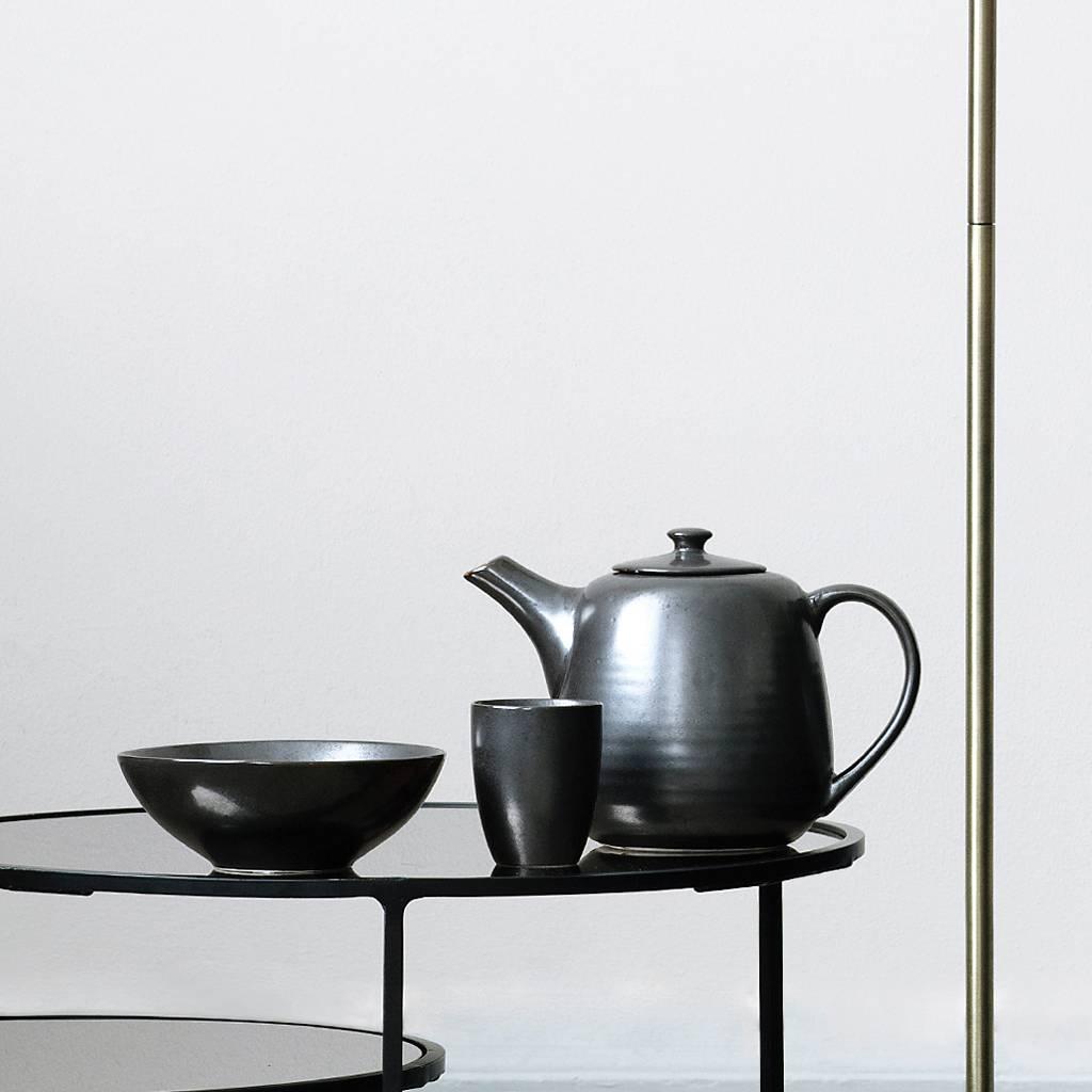 Broste Copenhagen theepot Esrum Night - zwart/grijs aardewerk - 1,3 L-14533120-5710688119103
