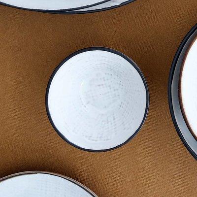 Broste Copenhagen beker/mok Hessian - crème/bruin aardewerk - 250 ml - set van 4. Broste Copenhagen 53565554