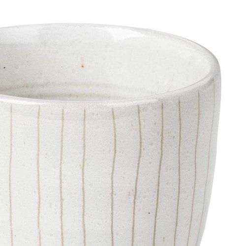 Broste Copenhagen beker Copenhagen espresso - ivoor/crème  aardewerk - 100 ml - set van 4