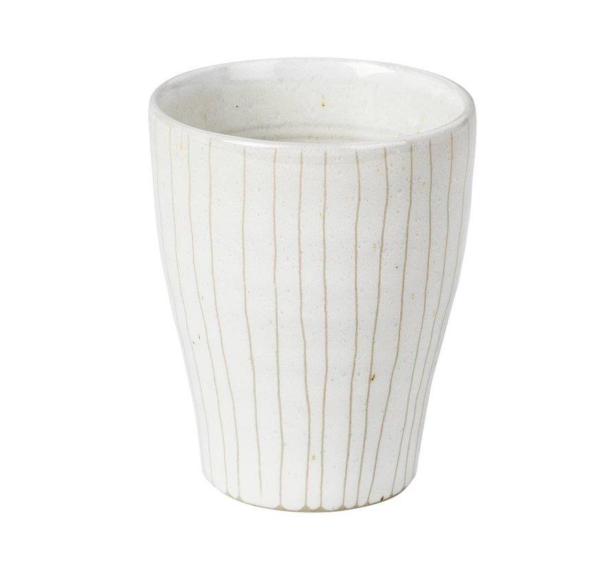 beker Copenhagen espresso - ivoor/crème  aardewerk - 100 ml - set van 4