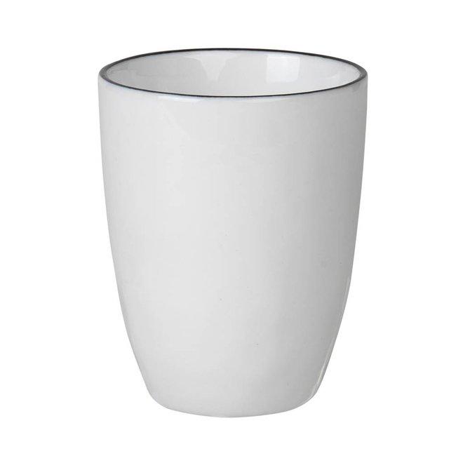 beker Salt espresso - wit/zwart porselein - 100 ml - set van 4