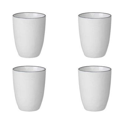 Broste Copenhagen beker Salt espresso - wit/zwart porselein - 100 ml - set van 4. Broste Copenhagen 75211130