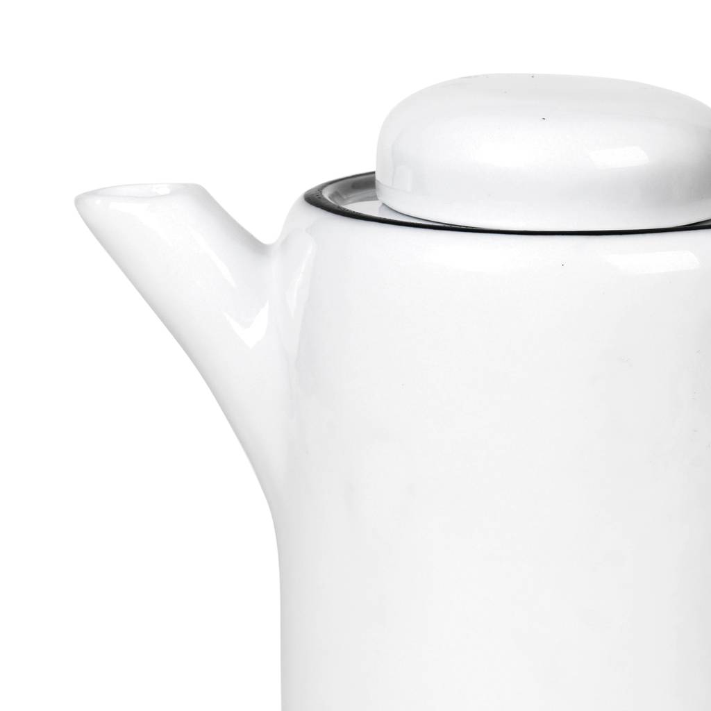 Broste Copenhagen theepot Salt - wit/zwart porselein - 1,3 L-14533252-5710688156306