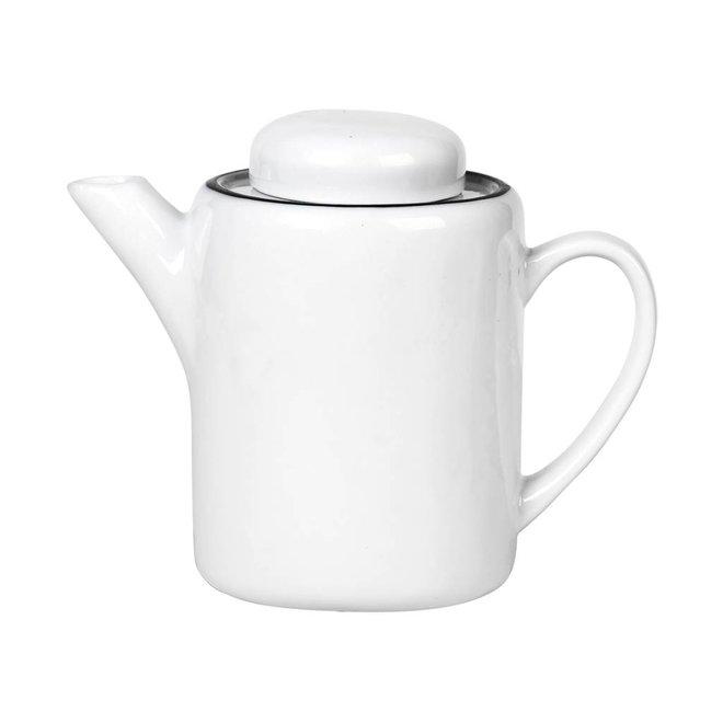 theepot Salt - wit/zwart porselein - 1,3 L