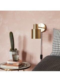 Hubsch wandlamp - goud/wit messing/metaal - E27/40W - 29 x 12 x 17 cm