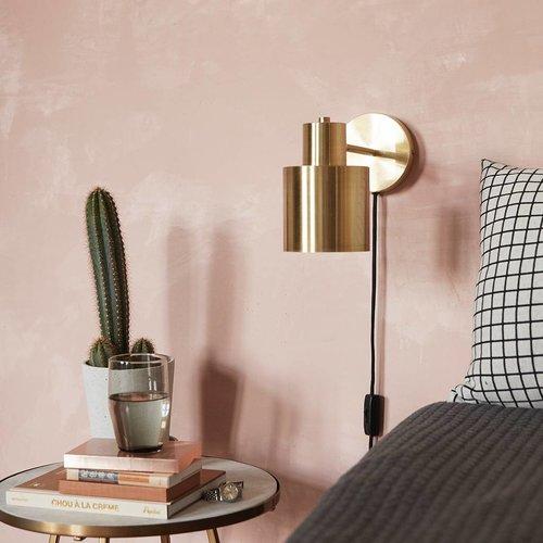 Hubsch Wandlamp goud/wit - 890302 - 29 x 12 x H17 cm