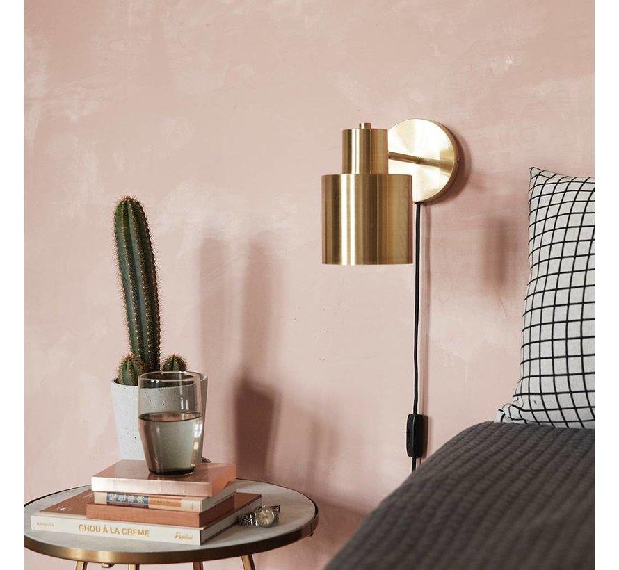 wandlamp - goud/wit messing/metaal - E27/40W - 29 x 12 x 17 cm