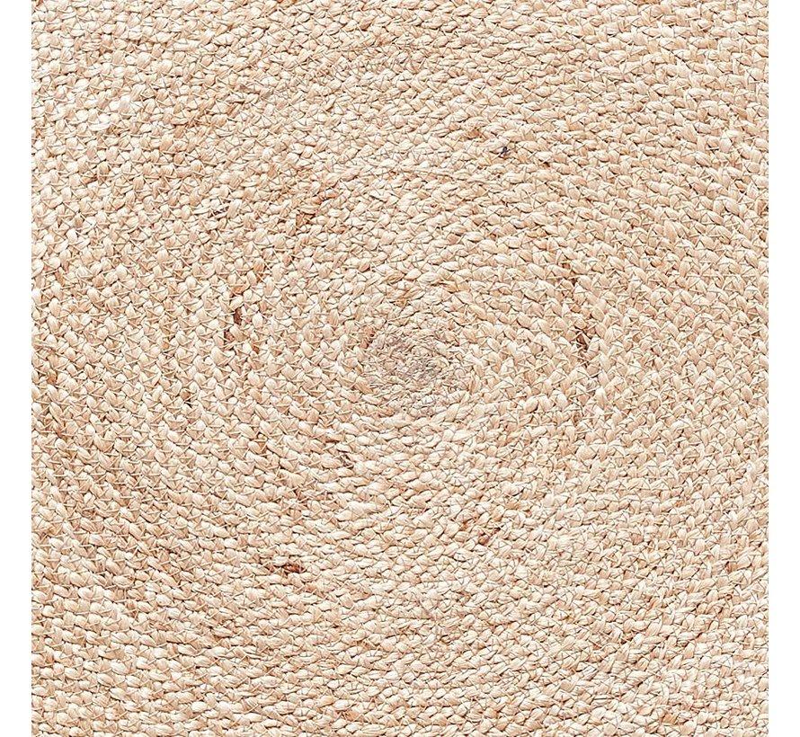 Vloerkleed Rond - Bruin/Naturel Jute - ø150 cm