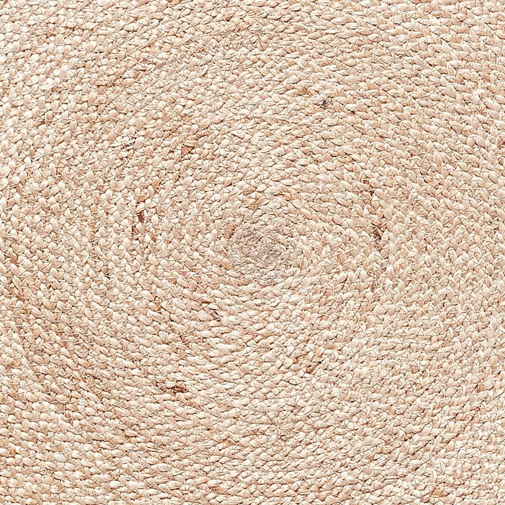 Hubsch Vloerkleed Rond - Bruin/Naturel Jute - ø150 cm-190601-5712772063842
