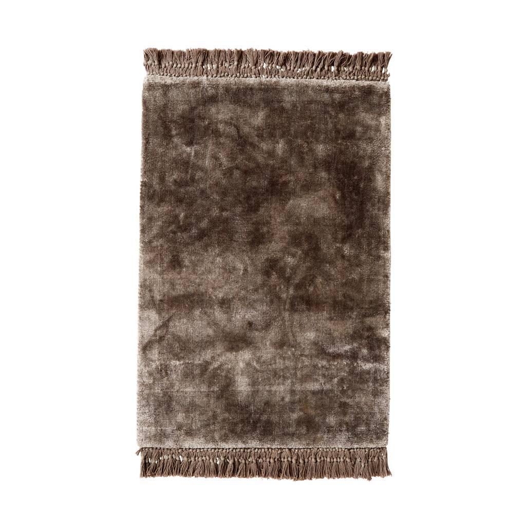 Nordal Vloerkleed Noble Warm Grey - Grijs/Bruin Viscose-8298-5708309145730