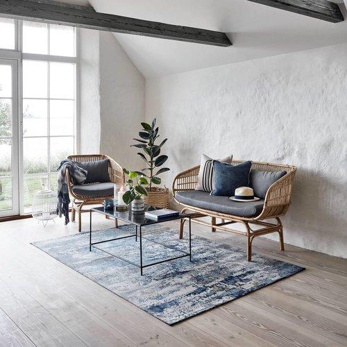 Nordal Tapijt Breeze - Blauw/Roomwit katoen