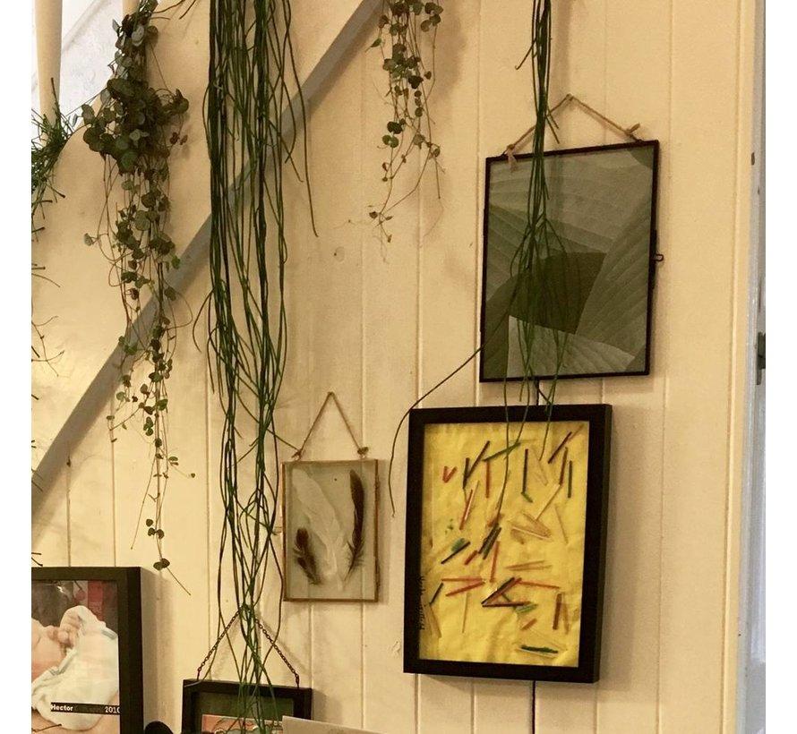 fotolijst hangend - koper, glas - 26 x 20 cm