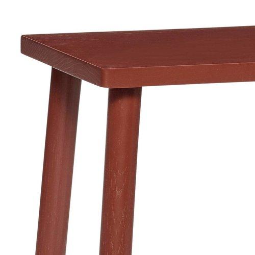 Hubsch kruk rechthoekig - rood eikenhout - 25 x 35 x 52 cm