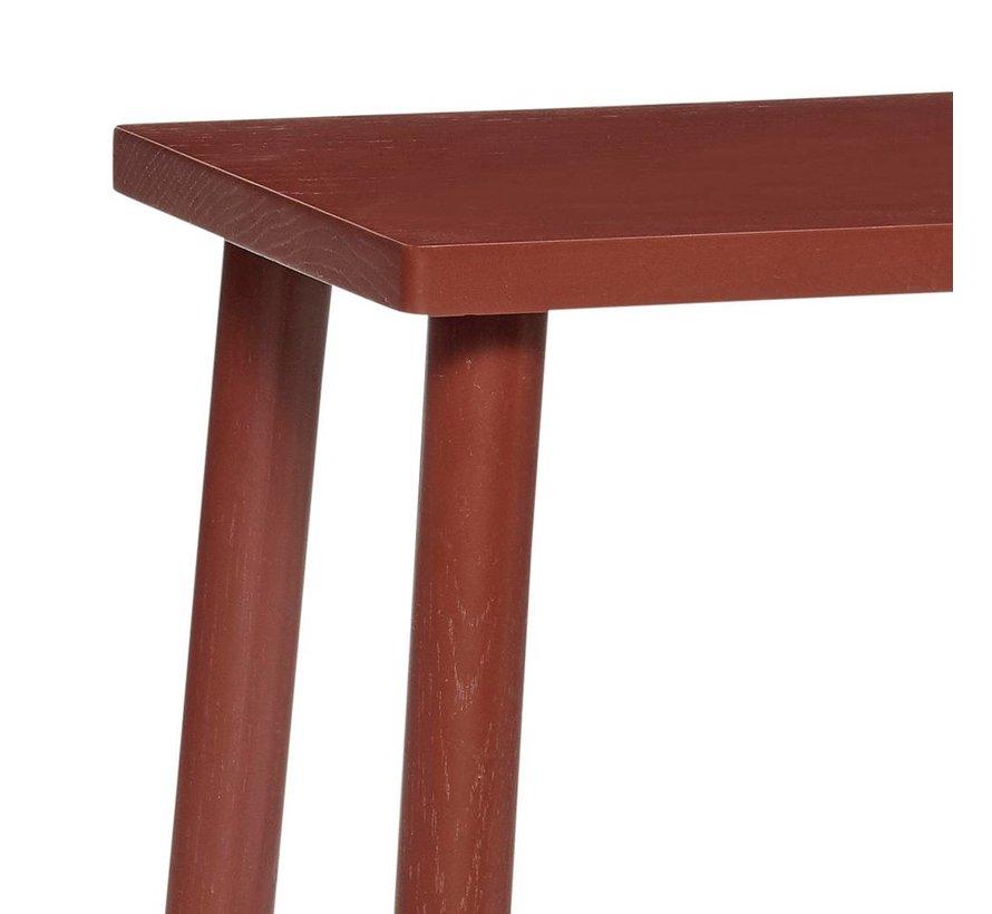 kruk rechthoekig - rood eikenhout - 25 x 35 x 52 cm