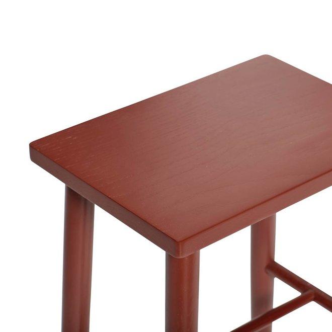 Hubsch kruk rechthoekig - rood eikenhout - 25 x 35 x 52 cm - 880720