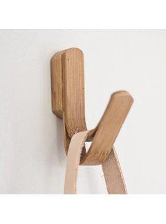 Hubsch Kapstokhaak enkel - bruin bamboe/hout - set van 2. Hubsch 67222442