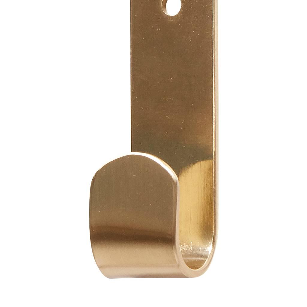 Hubsch Kapstokhaak goud messing - set van 2