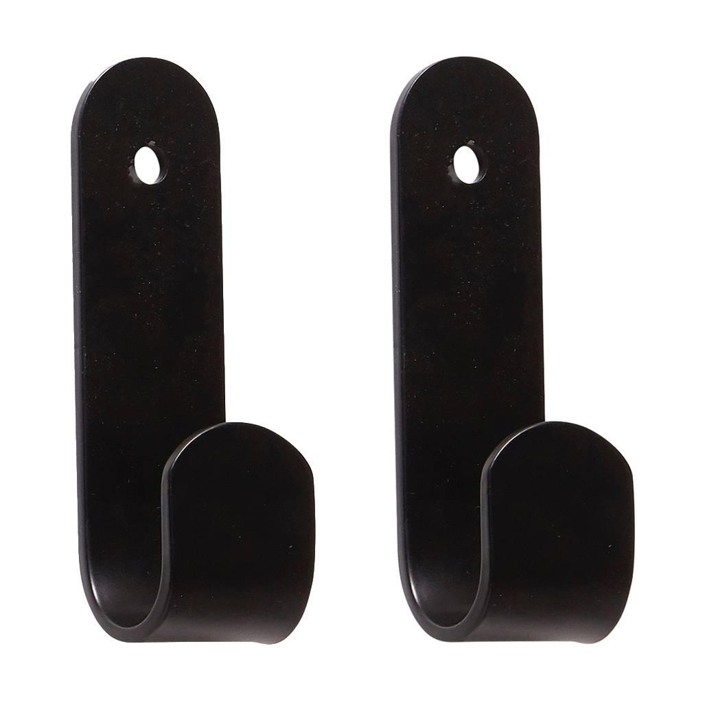 Hübsch Kapstokhaak Zwart Metaal Set Van 2 Winkel Voor Thuis