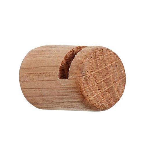 Hubsch Kapstokhaak zwevend - Bruin eikenhout - set van 4