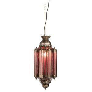 Winkel voor Thuis Collectie Hanglamp Gypsy Oosters - glas/metaal - rood/goud