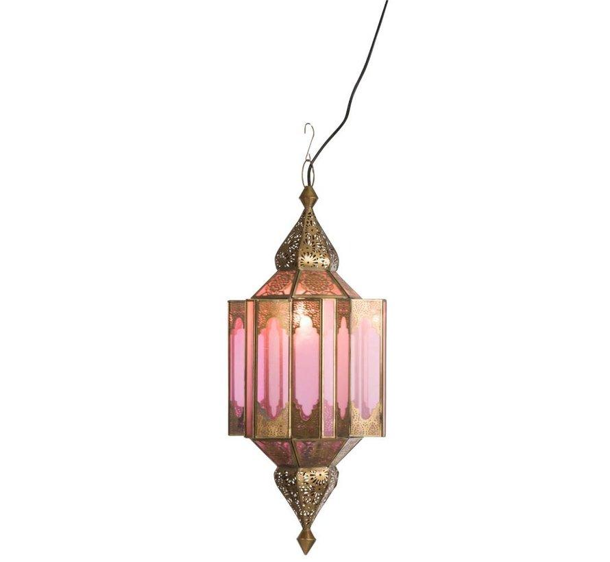 Hanglamp Gypsy Oosters - glas/metaal - beige/goud