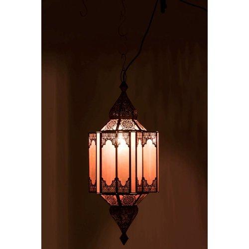 Winkel voor Thuis Collectie Hanglamp Gypsy Oosters - glas/metaal - beige/goud