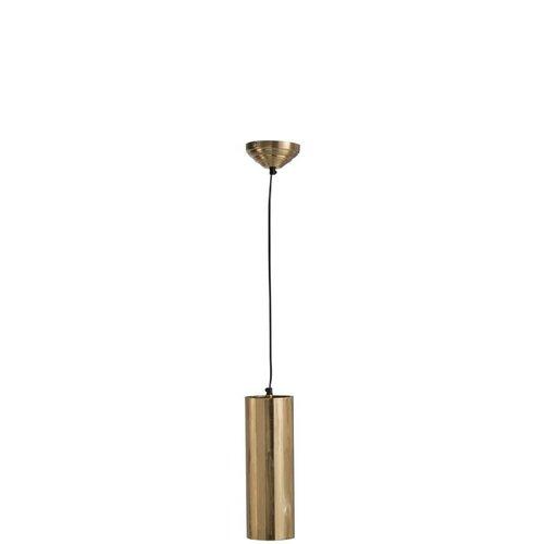 J-line Hanglamp Cilinder Metaal Goud