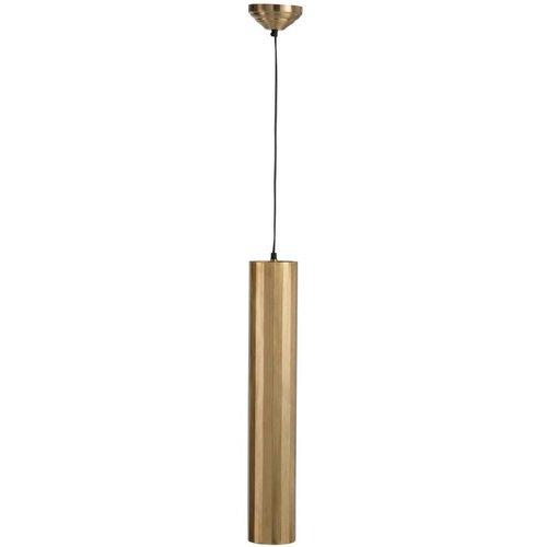 Winkel voor Thuis Collectie Hanglamp Cilinder Metaal Goud