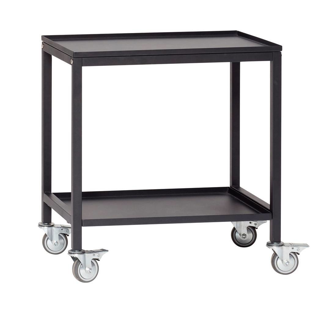 Hubsch Trolley zwart metaal - 020401 - 58 x 38 x h66 cm - 20401