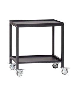 Hubsch Trolley zwart metaal - 020401 - 58 x 38 x h66 cm