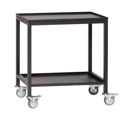 Hubsch Trolley zwart metaal - 020401 - 58 x 38 x h66 cm. Hubsch 83792384