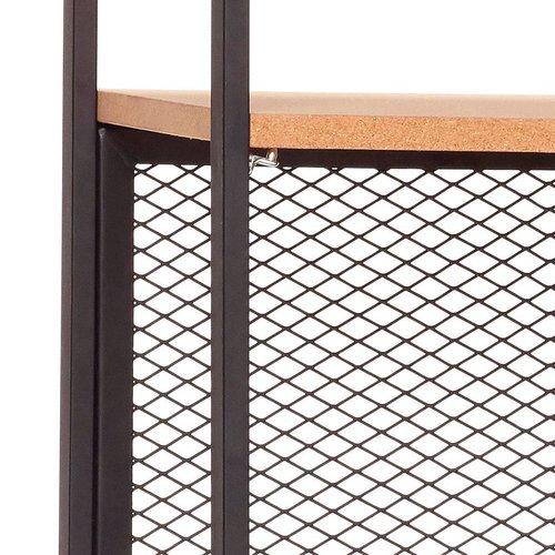 Hubsch Stellingkast - metaal, kurk - 020402 - zwart - 5 legplanken  - 71 x 35 x h180 cm