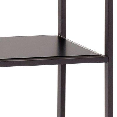 Hubsch Stellingkast - metaal, kurk - 020402 - zwart - 5 legplanken  - 71 x 35 x h180 cm. Hubsch 83793893