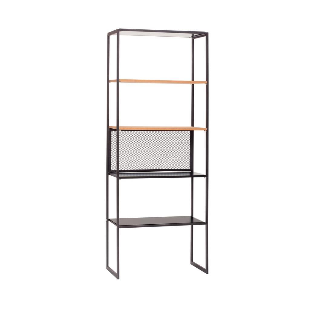 Metalen Stellingkast Zwart.Shop Stellingkast Metaal Kurk 020402 Zwart 5 Legplanken