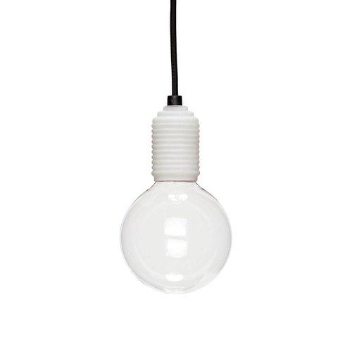Hubsch Hanglamp - 890406 - glas, stof - wit, zwart