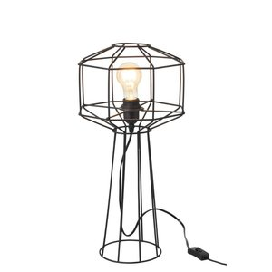 J-line Tafellamp Draadlamp Industrieel - zwart - ø24 x 50 cm