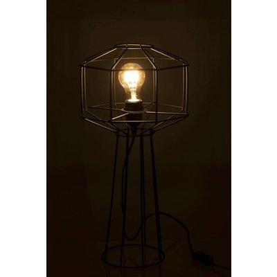 J-line Tafellamp Draadlamp Industrieel - zwart - ø24 x 50 cm. J-line 84835646