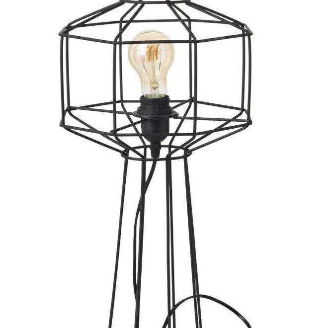 J-line Tafellamp Draadlamp Industrieel - zwart - ø24 x 50 cm - 93789