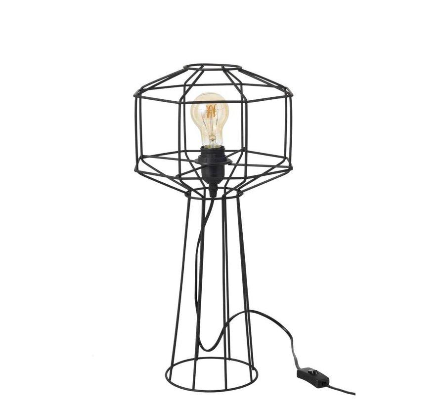 Tafellamp Draadlamp Industrieel - zwart - ø24 x 50 cm