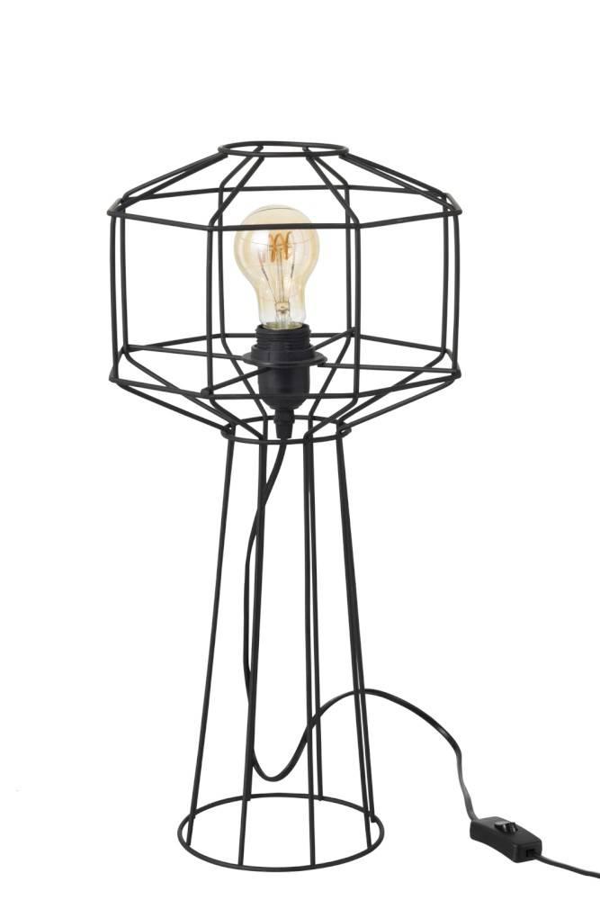 J-line Tafellamp Draadlamp Industrieel - zwart - ø24 x 50 cm-93789-5415203937896