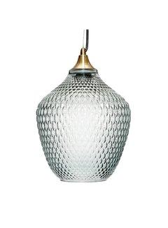 Hubsch Hanglamp - 950101 - Glas, Messing - 22 x H32 cm - Blauw. Hubsch 66196445