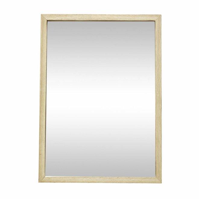 spiegel hout - 35 x h 50 cm - 889045 - eiken