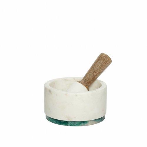 Hubsch vijzel marmer - groen, wit - 510513