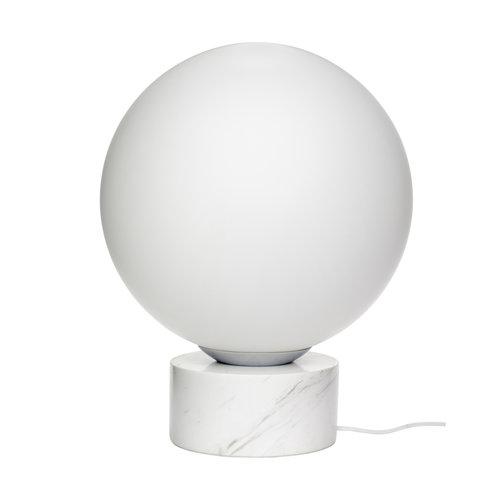 Hubsch Lamp Boule bol wit - glas, marmer - 990836 - ø40 cm