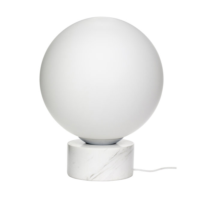 Lamp Boule bol wit - glas, marmer - 990836 - ø40 cm