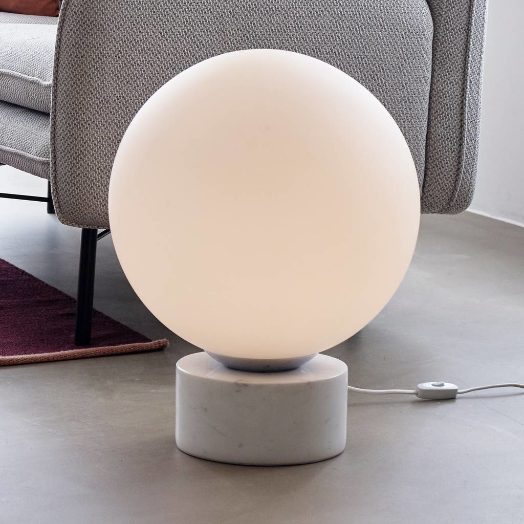 Hubsch Lamp Boule bol wit - glas, marmer  - ø40 cm-990836-5712772069172