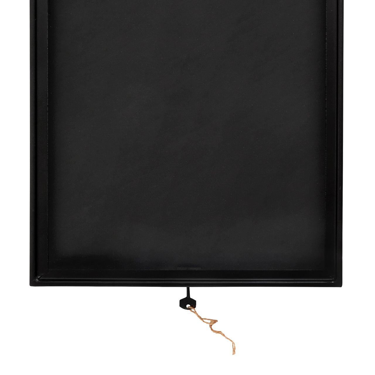 Nordal Menukast/display box, zwart metaal en glas, 36 x 49 cm