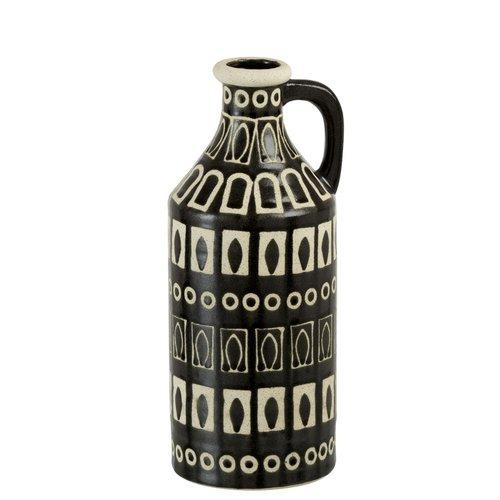 Winkel voor Thuis Collectie Vaas Met Oor Etnic Aardewerk Bruin/Beige (15x15x36cm)