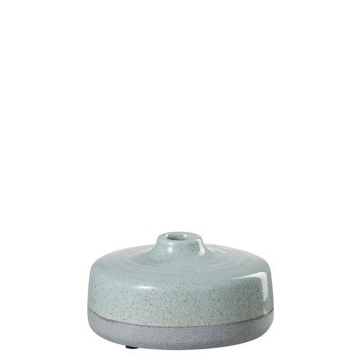 Winkel voor Thuis Collectie Vaas laag keramiek l groen/grs (17x17x9cm)