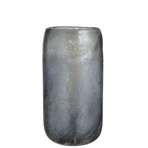 Winkel voor Thuis Collectie Vaas cil gl blink grijsblauw l (19x19x36cm)